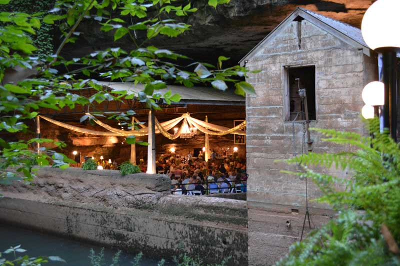 Event at venue at Lost River Cave